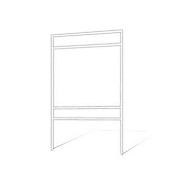 "Picture of 18""h x 24""w Metal Frame - 2 riders (White)"