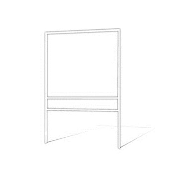 "Picture of 18""h x 24""w Metal Frame - 1 rider (White)"