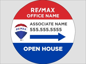 Picture of RE/MAX - Open House Agent Directional (circle)